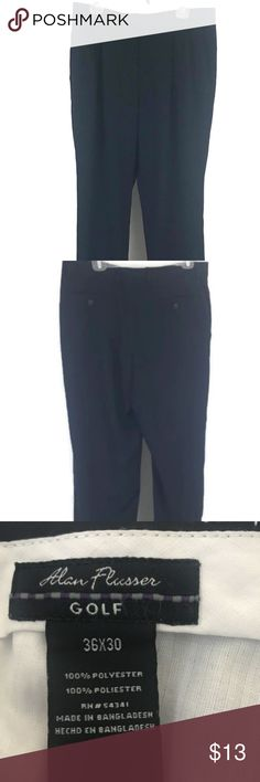 "Alan Flusser Golf Mens Classic Golf Pants Pleated Alan Flusser Golf Mens Classic Golf Pants Pleated Cuffed Size W 36 X L 30 Navy Excellent Condition Waist 18"" Rise 13"" Inseam 30 Alan Flusser Pants"