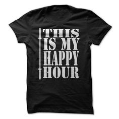 My Happy Hour - #casual tee #workout tee. SATISFACTION GUARANTEED => https://www.sunfrog.com/Fitness/My-Happy-Hour.html?68278