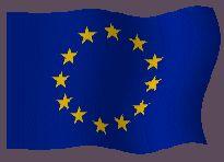 Bandera de la Unión Europea animada gratis en formato gif animado e imágenes de banderas animadas de la Unión Europea como ilustraciones, gráficos y símbolos nacionales