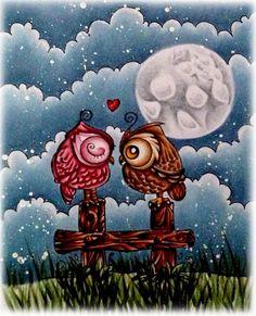 Sky: B93, B91, B14, B00 Grass: G21, G94, G99 Wood Fence: E11, E13, E15, E18 Brown Owl: E31, E33, E35, E39, Y35, Y38, E18 Pink Owl: R81, R83, R85, R89 Moon: C0, C1, C3, C5