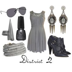 District 2, created by character-inspired-style on Polyvore