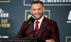 Conor McGregor Pocket Square and Tie Combos Conor Mcgregor Suit, Mcgregor Suits, Notorious Conor Mcgregor, Coner Mcgregor, Ufc 202, Tailor Made Suits, Groom And Groomsmen, Gentleman Style, Wedding Suits