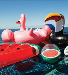 Sunnylife inflatable watermelon ball from Lark.
