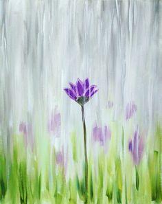 Paint Nite Rainy Garden Trending Paintings