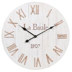 Reloj redondo de madera bianca D 60 cm LA BAULE | Maisons du Monde