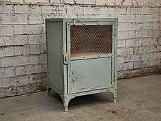 Industrial Bedside Table Rustic Storage Unit Side by HolyFunk, $220.00
