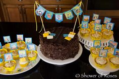 Shower of Roses: A Golden Books Baby Shower Cake and Cupcakes!