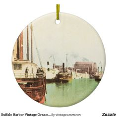 Buffalo Harbor Vintage Ornament