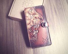 Handmade leather phone cover