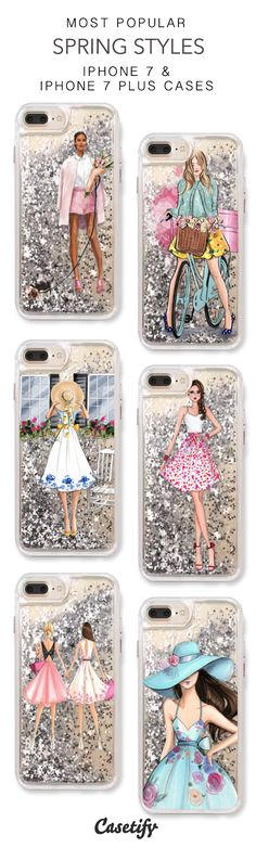 Most Popular Spring Styles iPhone 7 Cases & iPhone 7 Plus Cases. More protective liquid glitter iPhone case here > https://www.casetify.com/en_US/collections/iphone-7-glitter-cases#/?vc=3A3VQmGTst
