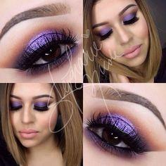 Stephanie Nicole @muastephnicole  Purple smokey makeup look using the new Anastasia Beverly Hills Amrezy palette