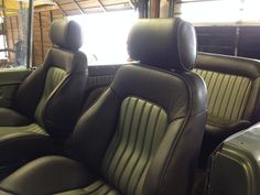 Custom seats and interior for the Bronco.