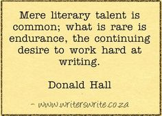 Quotable - Donald Hall -