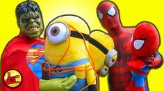 MINIONS vs Spiderman Spiderbaby Kidnapped by Minion - Super Hulk Fun Sup...