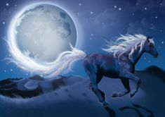 equine art images | Blue horse