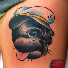 by Toby from Shanghai Charlies in Sydney <3 #puppy #sailor #tattoo