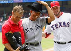 Ten-gallon hat and boots for Rivera from the Rangers.