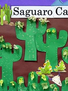 Saguaro Cactus craft for kids. (great for Cinco de Mayo, AZ landscape, desert)