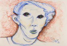 Modern Art Paintings, Original Paintings, Original Art, Oil Pastel Drawings, Colorful Drawings, Male Face Drawing, Oil Pastel Colours, Beautiful Men Faces, Abstract Art