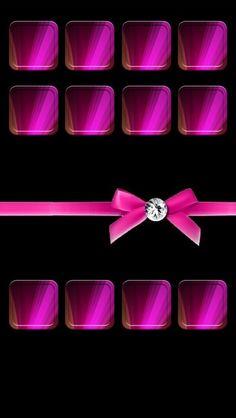 Hot Pink N Black iPhone 5 Wallpaper