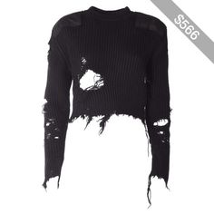 Yeezy by Kanye West Destroyed Crop Blouclè Sweater ( Season 3 )