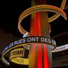 La Vitrine culturelle – New Urban Media Facade by Moment Factory Rue, Lighting Design, Facade, Photos, In This Moment, Urban, World, Screens, Culture