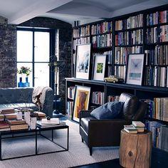 bookshelf idea Everett Leather Chair | west elm