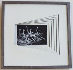 Thème de l'exposition de l'atelier cadreetdeco 2014. cartonnettes décalées réalisées par Marie-claude C.
