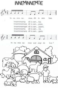 ienemienemoe Pre School, Back To School, Farm Animals, Montessori, Worksheets, Parenting, Songs, Teaching, Blog