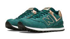 New Balance Precious Metals 574, Emerald with Bronze