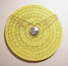 """Pickett circular slide rule with two cursors. cm width) Reverse has additional scale and one cursor."" Caption at link Antique Tools, Vintage Tools, Engineering Science, Science And Technology, Smith Chart, Mechanical Calculator, Techno Gadgets, Old Stove, Slide Rule"