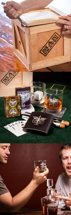 Excellent Father's Day gift! Whiskey and cards? This gift was designed for my man!   Man Crates