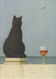 Inkognito: Katze am Meer