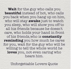 Wait for the guy...I did!  ❤