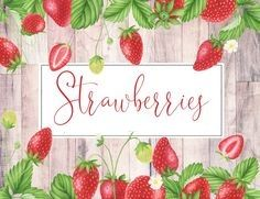 Strawberry Summer, Strawberry Patch, Strawberry Plants, Summer Fruit, Strawberry Fields, Strawberry Clipart, Fruit Clipart, Fruit Illustration, Watercolor Illustration