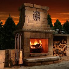 Rockwood Colonial Outdoor Fireplace