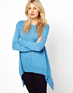 Image 1 of ASOS Hanky Hem Sweater In Fine Knit