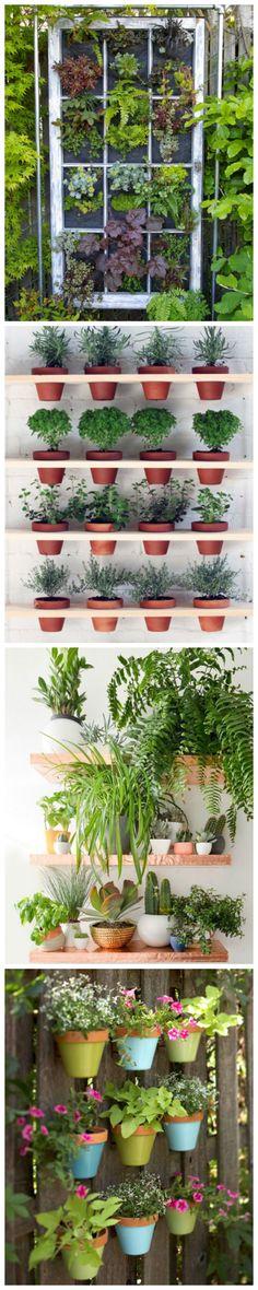 Vertical Garden Decorating Ideas #upcycle #gardening