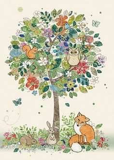 BugArt Collage ~ Woodland Tree. Collage *NEW* Designed by Jane Crowther.