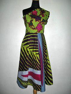 One Shoulder Ankara Dress...Choose a different by buythedress, $89.00