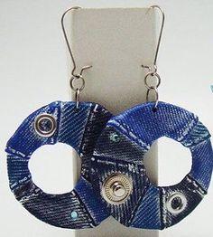 Diy Old Jeans, Washer Necklace, Crochet Earrings, Jewelry, Jewlery, Jewerly, Schmuck, Jewels, Jewelery
