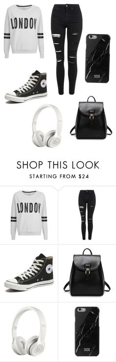 """""""Untitled #144"""" by zarahmuni ❤ liked on Polyvore featuring ONLY, Topshop, Converse, Beats by Dr. Dre and Native Union"""