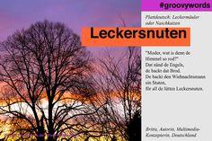 Leckersnuten - Plattdeutsch: Leckermäuler, Naschkatzen