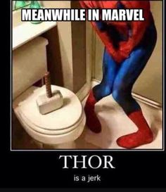 Meanwhile In Marvel funny spiderman lol humor funny pictures thor marvel funny pics funny images really funny pictures funny pictures and images Memes Humor, Dc Memes, Funny Jokes, Nerd Humor, Funny Geek, Marvel Funny, Marvel Memes, Marvel Comics, Thor Marvel