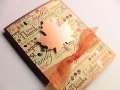 Handmade Thanksgiving Card Fall Card Autumn Card Copper by zuCards, $2.50
