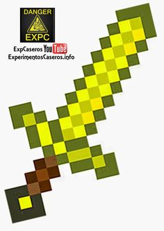 Minecraft Marvel, Minecraft Images, Minecraft Pixel Art, Minecraft Crafts, Minecraft Diamond Sword, Minecraft Sword, Hama Beads Minecraft, Espada Minecraft, Cool Paper Crafts