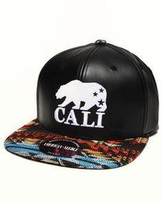 8a5eba1e779 Cali Bear sleek strapback hat by American Needle   DrJays.com Flat Bill Hats