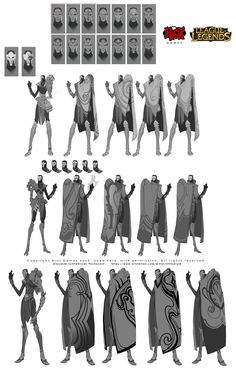 ArtStation - Part of my work on the character Jhin to League of Legends, Alexandr (LittleDruid) Pechenkin