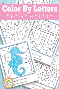 Help your kids with letter recognition by having fun with these color by letter printables! Repinned by SOS Inc. Resources pinterest.com/sostherapy/.