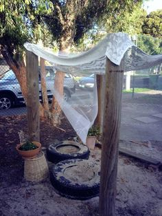 """Lovely area outdoors at Olympic Park Preschool - image shared by Yarn Strong Sista ("""",)"""